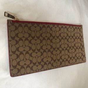 Coach Red-lined Zip Pouch/Clutch
